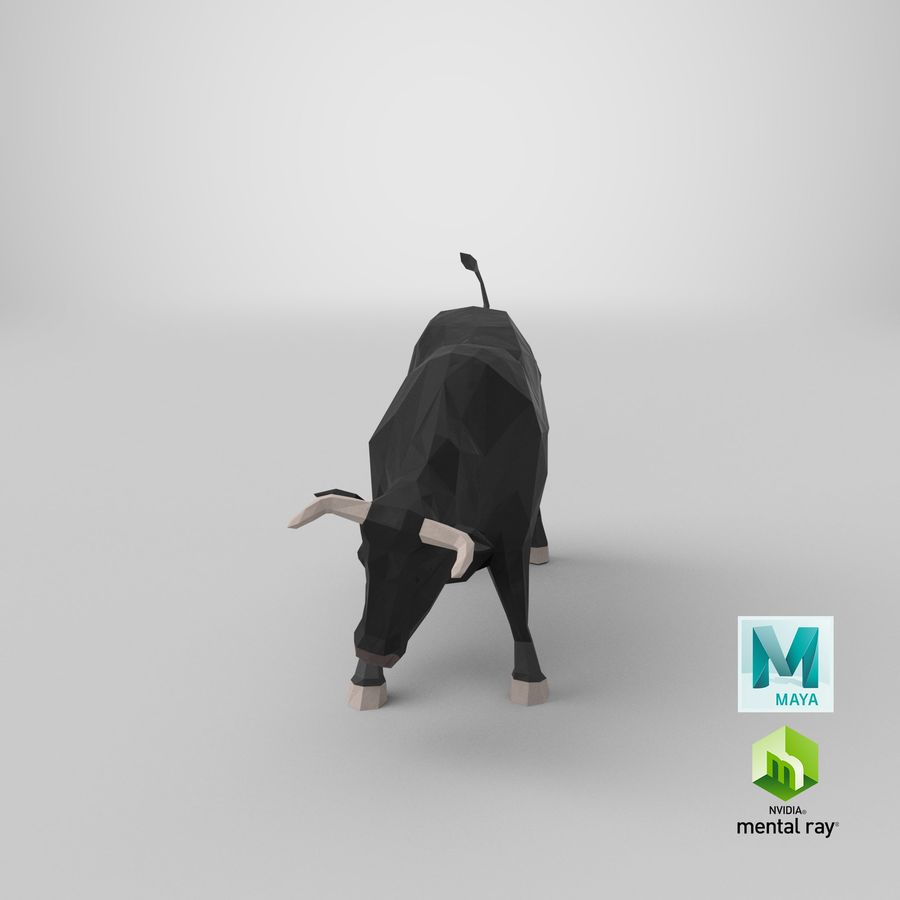 Bull Black opladen royalty-free 3d model - Preview no. 22