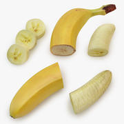 Cięcie bananów 01 3d model