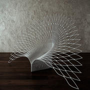 Chaise de paon 3d model