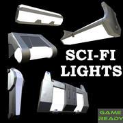 Lumières de science-fiction 3d model