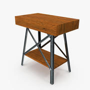 Rustic End Table 3d model