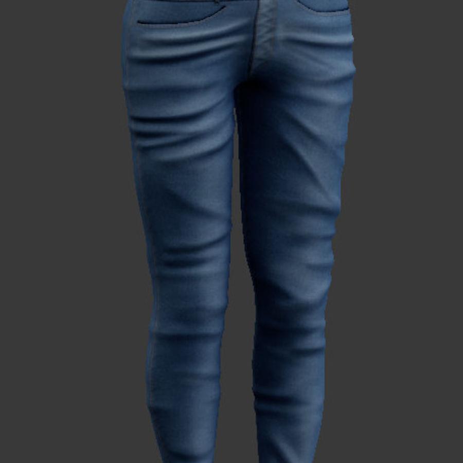 청바지 남성과 여성 royalty-free 3d model - Preview no. 4