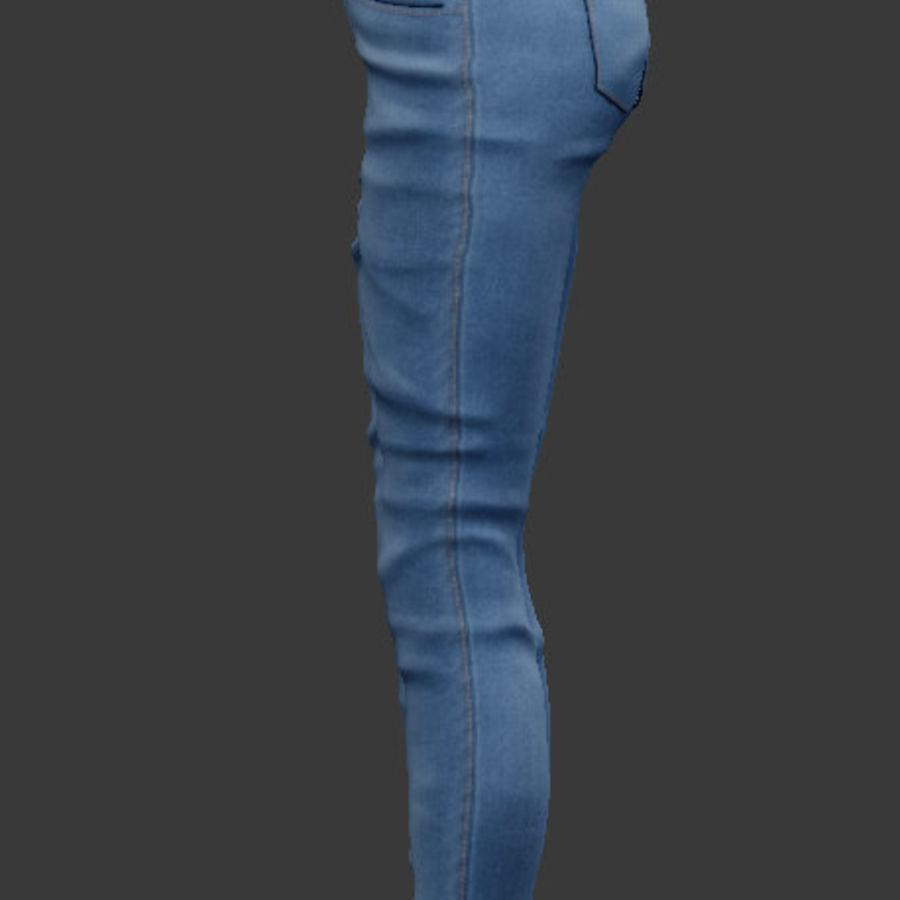 청바지 남성과 여성 royalty-free 3d model - Preview no. 6