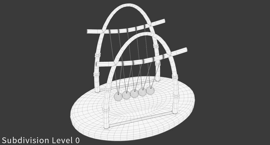 牛顿的摇篮 royalty-free 3d model - Preview no. 16