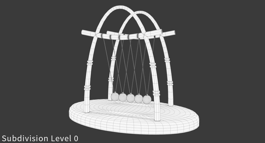 牛顿的摇篮 royalty-free 3d model - Preview no. 14