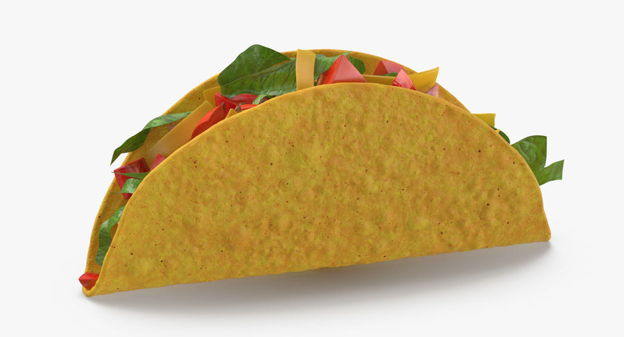 Taco Crunchy royalty-free 3d model - Preview no. 4