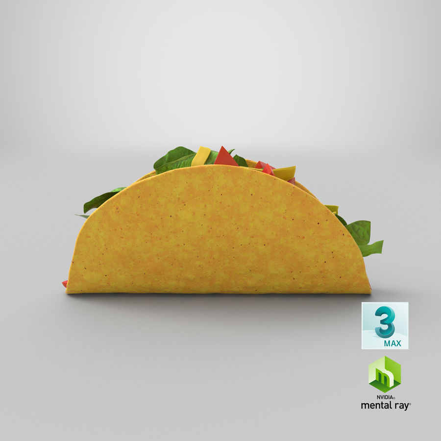 Taco Crunchy royalty-free 3d model - Preview no. 24