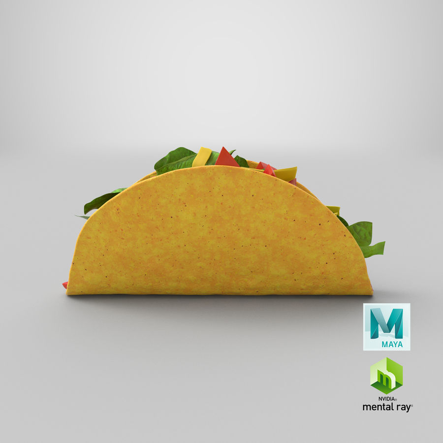 Taco Crunchy royalty-free 3d model - Preview no. 22