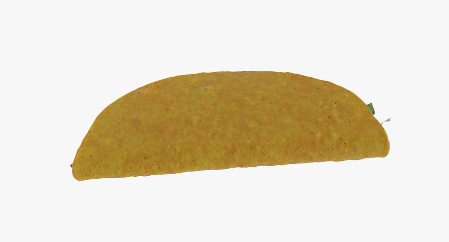 Taco Crunchy royalty-free 3d model - Preview no. 9