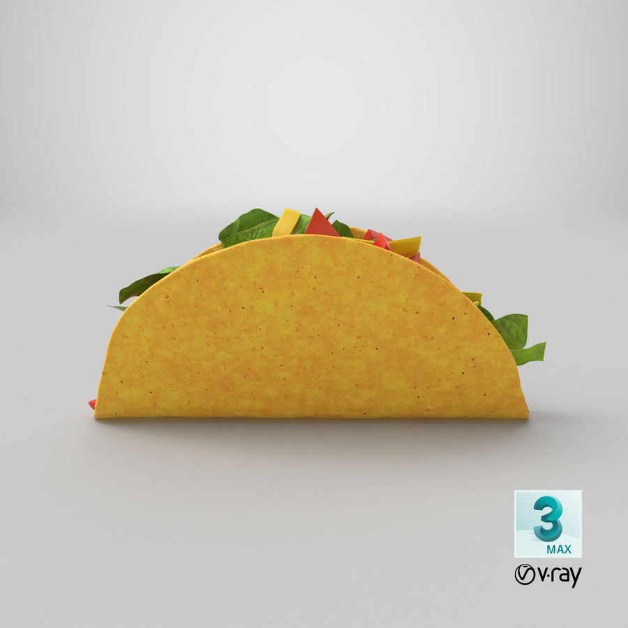 Taco Crunchy royalty-free 3d model - Preview no. 23