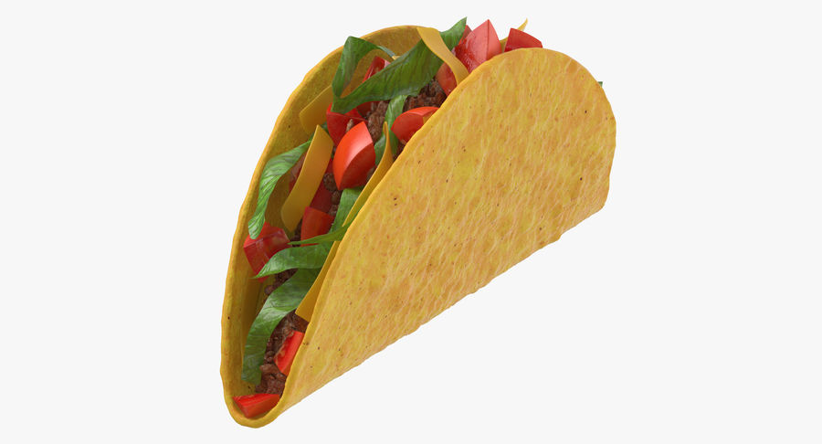 Taco Crunchy royalty-free 3d model - Preview no. 2
