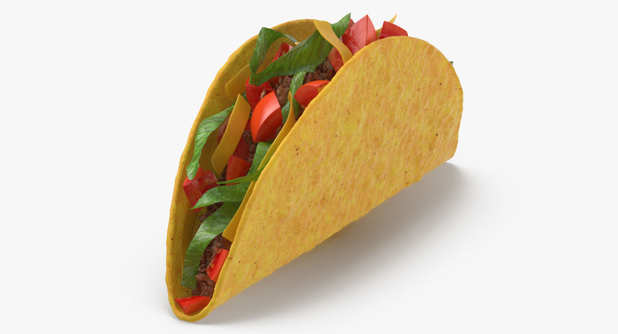 Taco Crunchy royalty-free 3d model - Preview no. 3