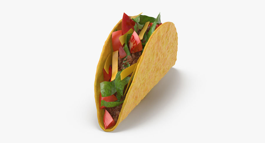 Taco Crunchy royalty-free 3d model - Preview no. 6