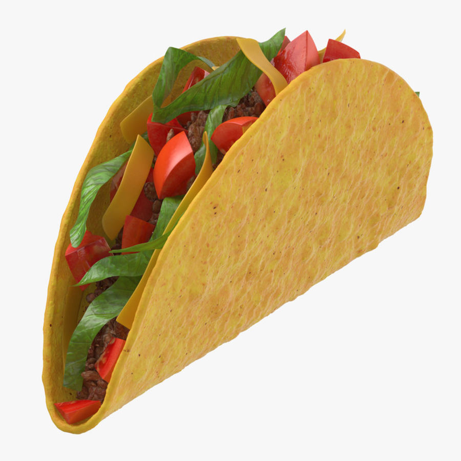 Taco Crunchy royalty-free 3d model - Preview no. 1