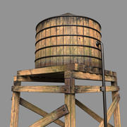 Water Tower (Photorealistic) 3d model
