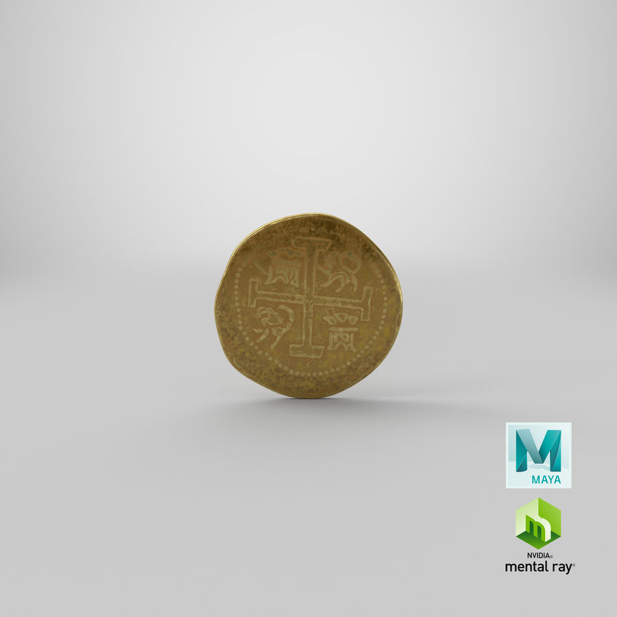 Gold Coin 01 royalty-free 3d model - Preview no. 22