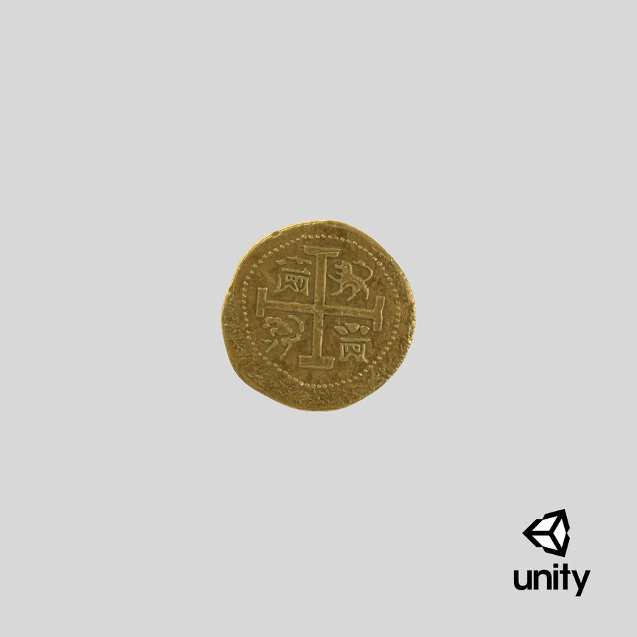 Gold Coin 01 royalty-free 3d model - Preview no. 25