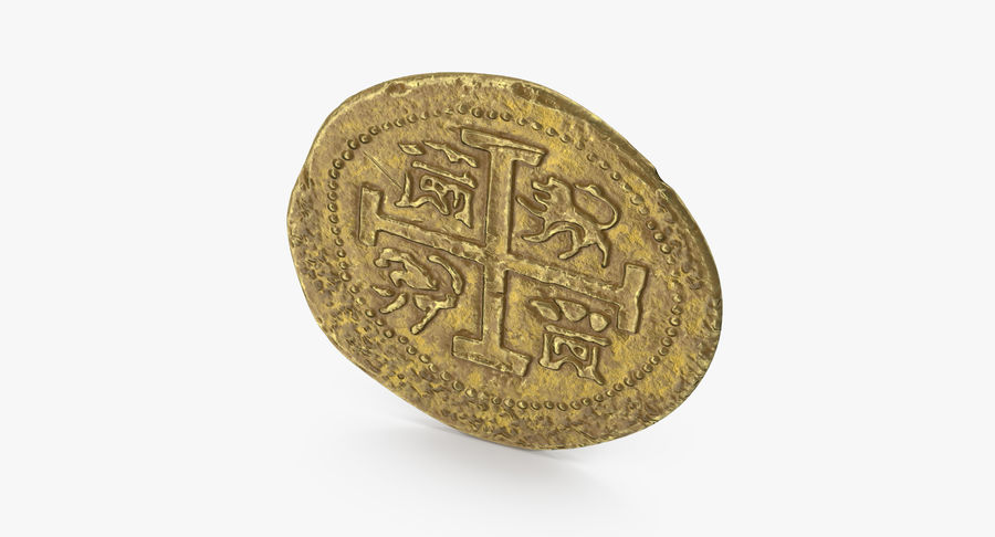 Gold Coin 01 royalty-free 3d model - Preview no. 8