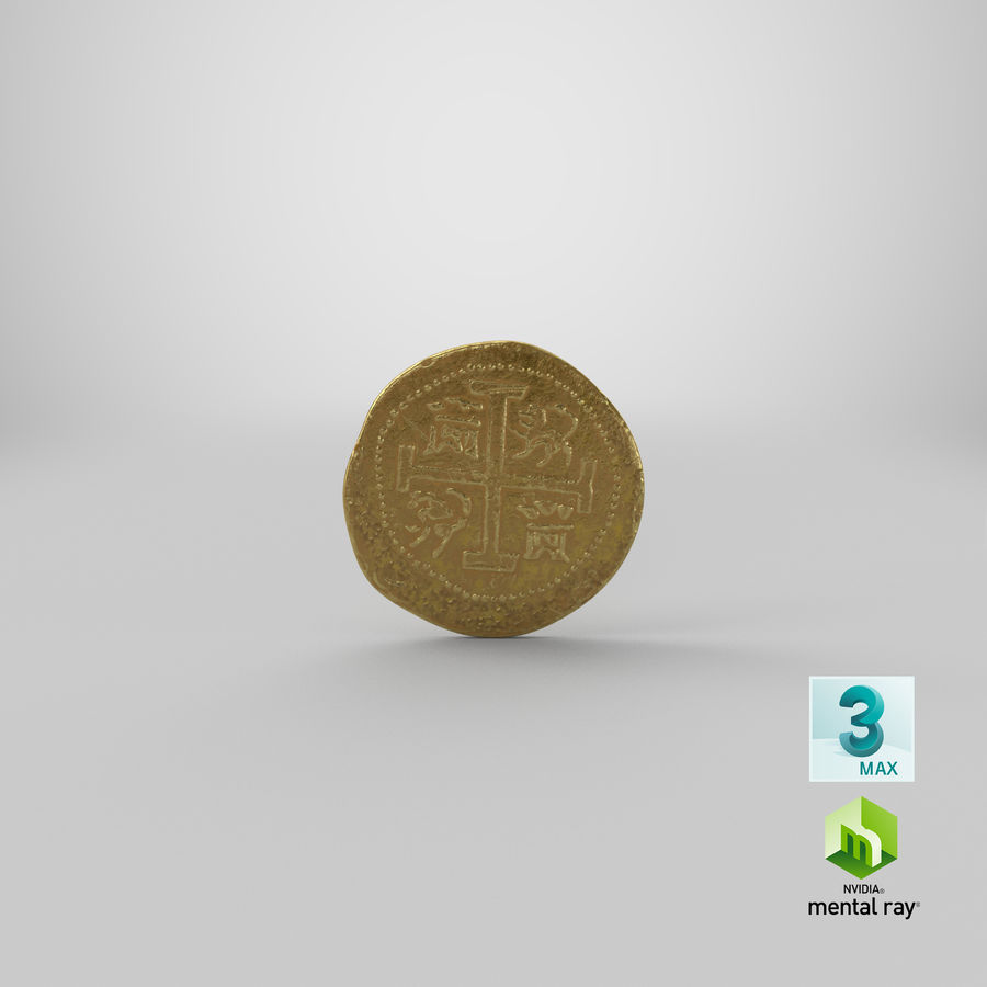 Gold Coin 01 royalty-free 3d model - Preview no. 24