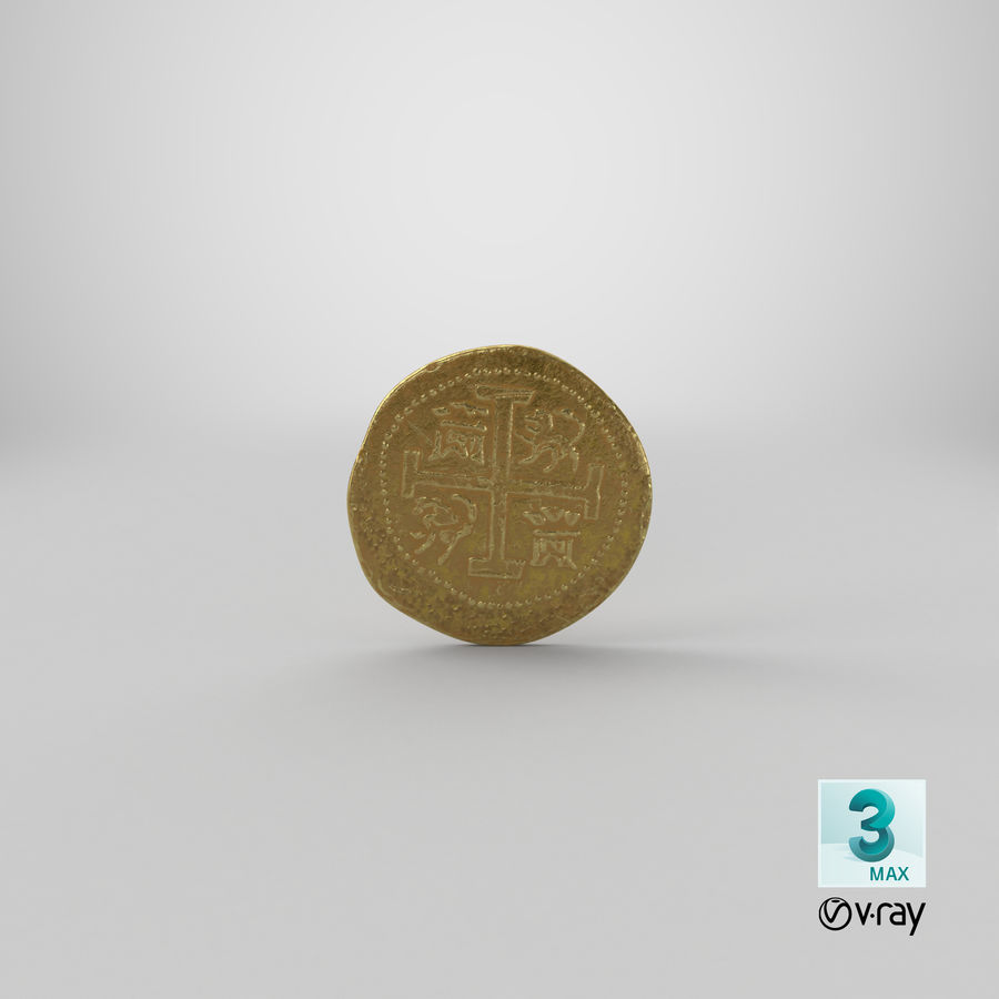 Gold Coin 01 royalty-free 3d model - Preview no. 23