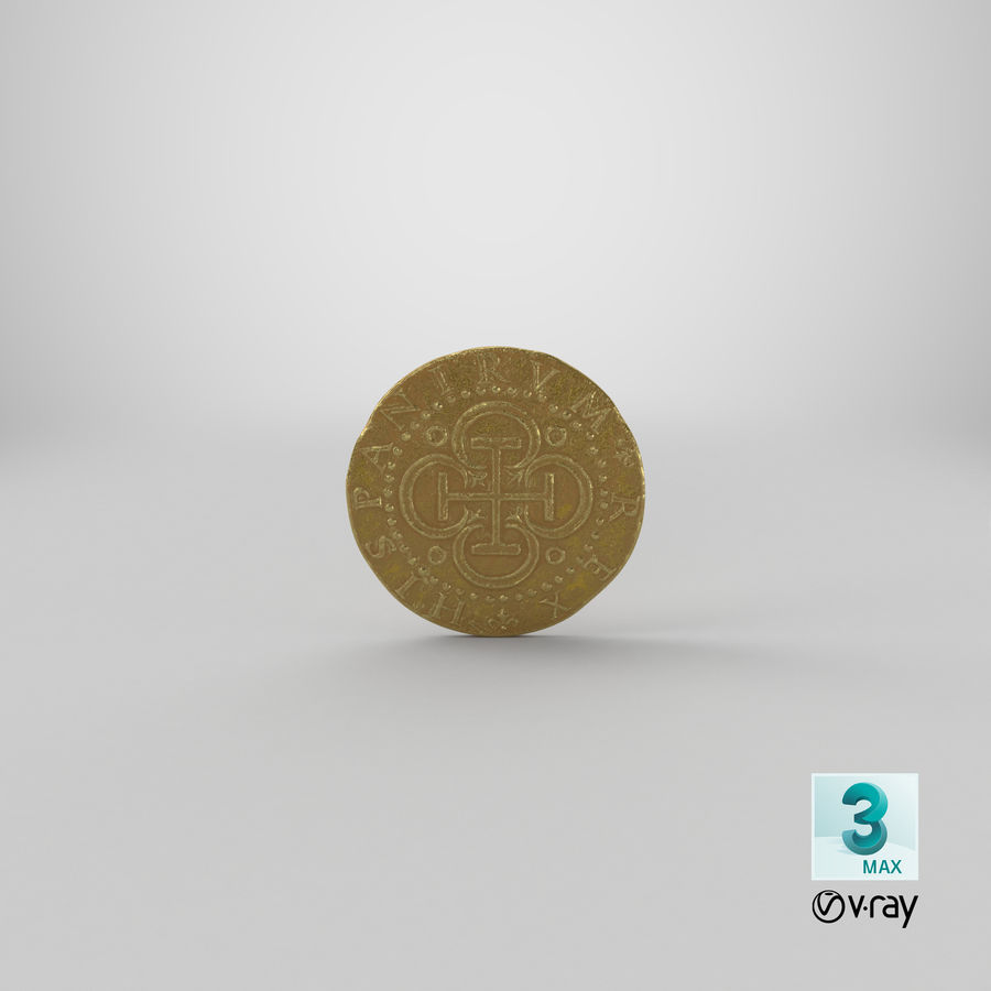 Gold Coin 02 royalty-free 3d model - Preview no. 23
