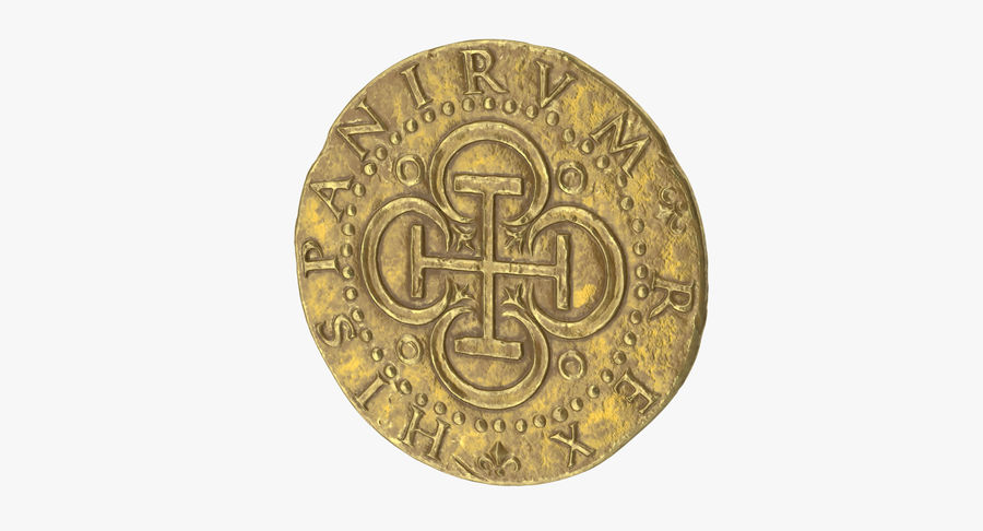 Gold Coin 02 royalty-free 3d model - Preview no. 2