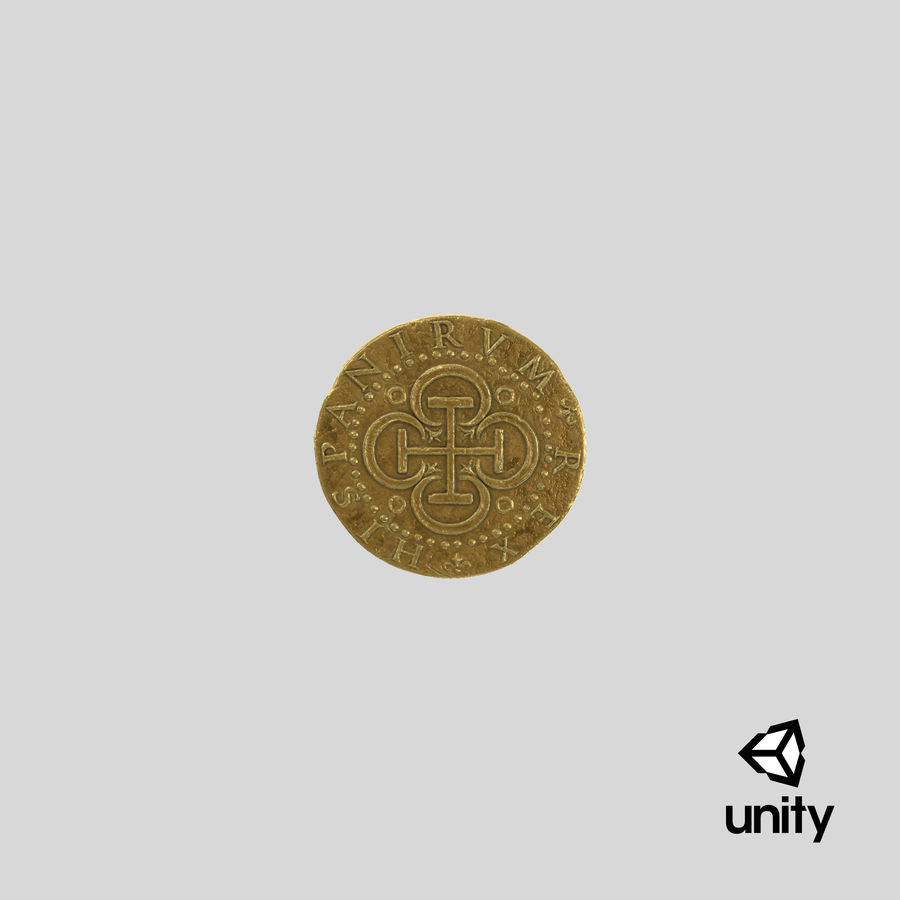 Gold Coin 02 royalty-free 3d model - Preview no. 25