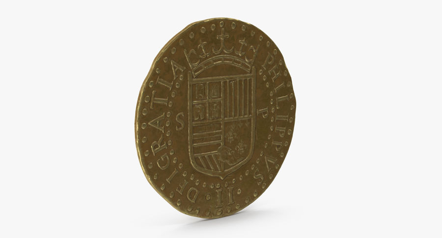Gold Coin 02 royalty-free 3d model - Preview no. 5