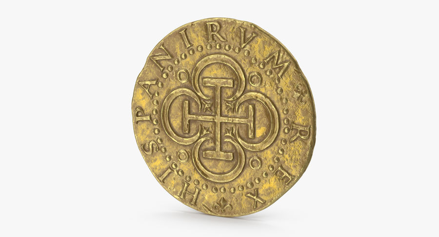 Gold Coin 02 royalty-free 3d model - Preview no. 3