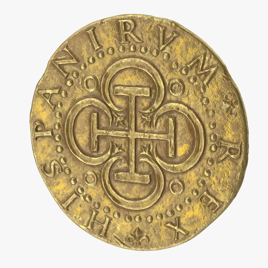 Gold Coin 02 royalty-free 3d model - Preview no. 1