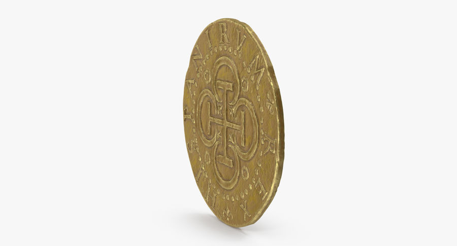 Gold Coin 02 royalty-free 3d model - Preview no. 4