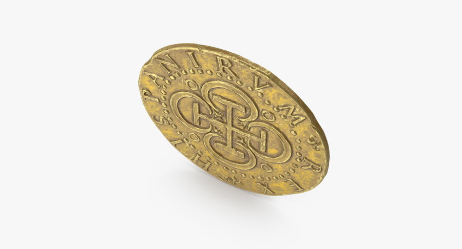 Gold Coin 02 royalty-free 3d model - Preview no. 9
