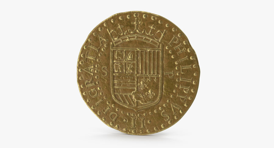Gold Coin 02 royalty-free 3d model - Preview no. 6