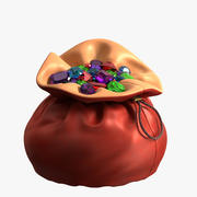 Pouch with Gems 3d model