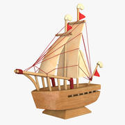 Wooden Ship Souvenir 3d model
