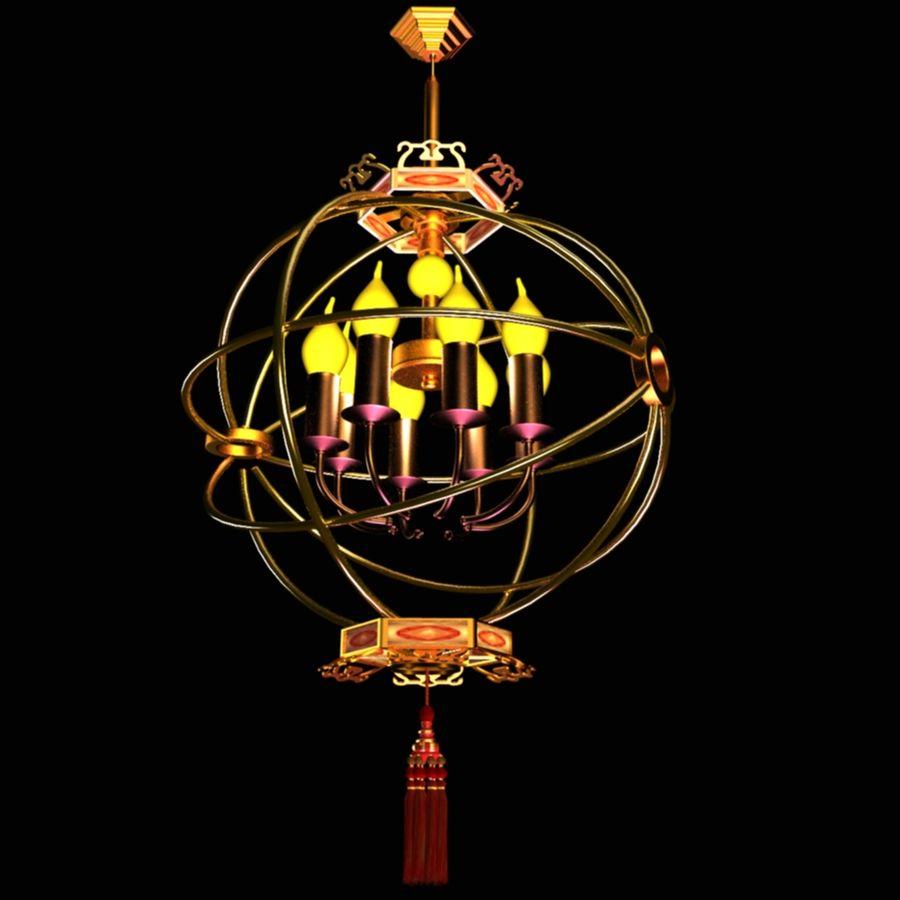 Linterna de vela china royalty-free modelo 3d - Preview no. 2