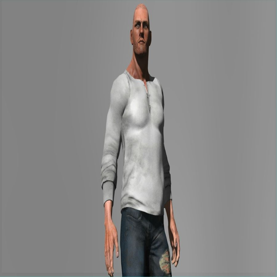 Action Hero royalty-free 3d model - Preview no. 1