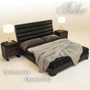 Tashmarine Queen bed 3d model