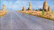 Desert Road Landscape 3d model