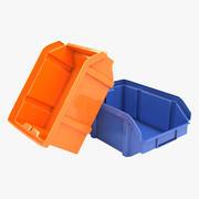 Пластиковая корзина 3d model