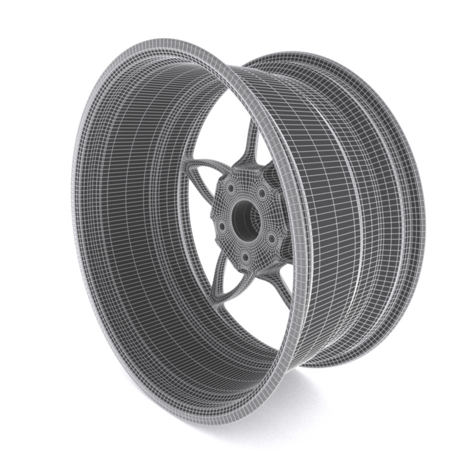 Car wheel PR0005(1) royalty-free 3d model - Preview no. 9
