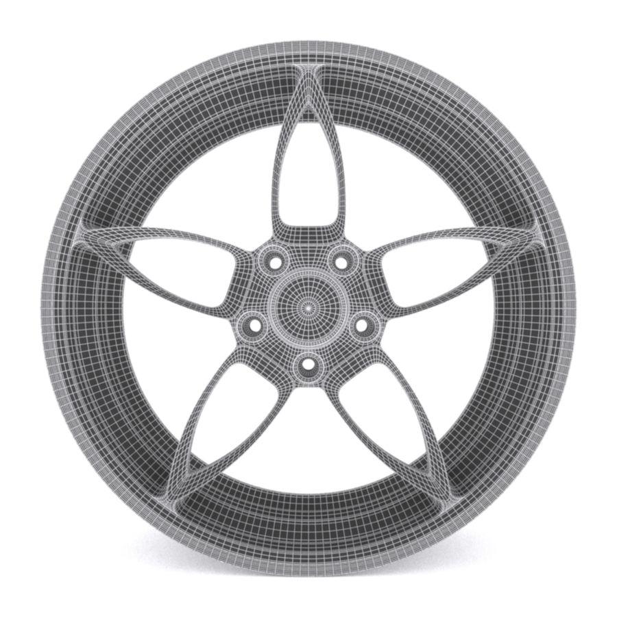 Car wheel PR0005(1) royalty-free 3d model - Preview no. 5