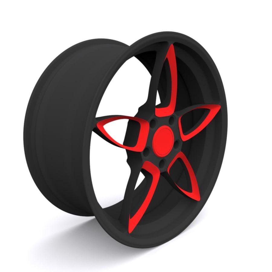Car wheel PR0005(1) royalty-free 3d model - Preview no. 3