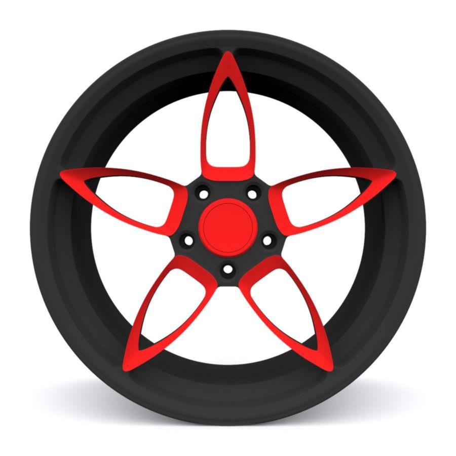 Car wheel PR0005(1) royalty-free 3d model - Preview no. 2