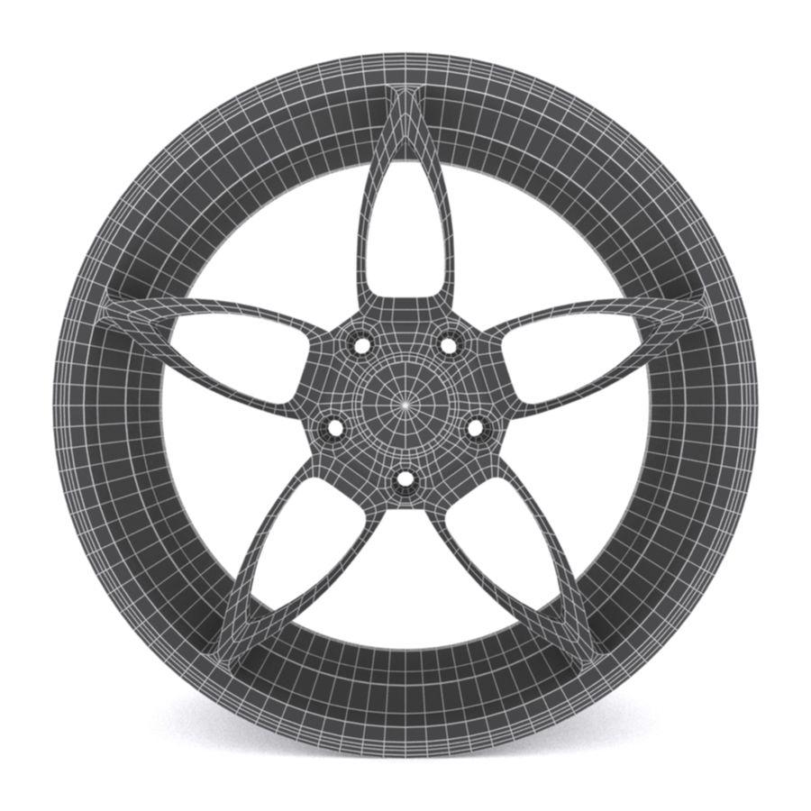 Car wheel PR0005(1) royalty-free 3d model - Preview no. 6