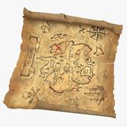 Mapa del tesoro 03 04 modelo 3d