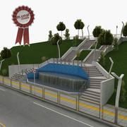 Escadas do parque da cidade 3d model