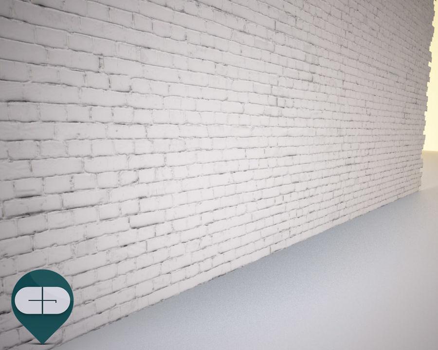 White Brick Wall Repeatable 3d Model 36 Unknown Obj Fbx 3ds C4d Free3d