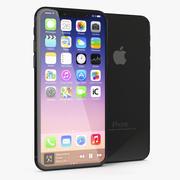 Iphone 8 Concept Negro modelo 3d