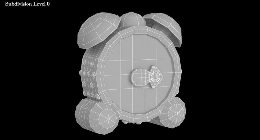 おもちゃの目覚まし時計 royalty-free 3d model - Preview no. 10